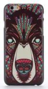 "Apple iPhone 6 4.7"" - Θήκη Πλαστικό Πίσω Κάλυμμα Aztec Animal Bear Black (ΟΕΜ)"