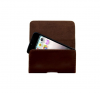 Universal brown XL Leather Belt Clip Holster Case Pouch Cover for mobile phones